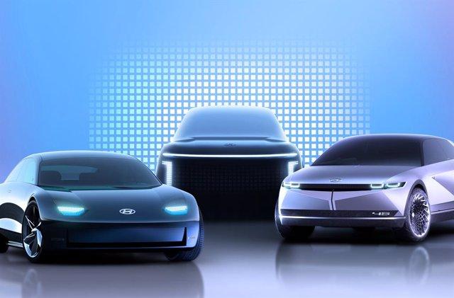 Recreación de los futuros modelos eléctricos de Hyundai.
