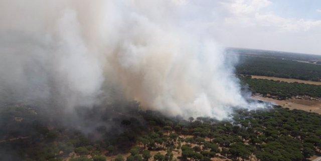 Incendio en Simancas