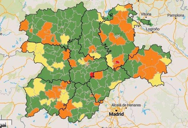 Mapa de zonas básicas en CyL.