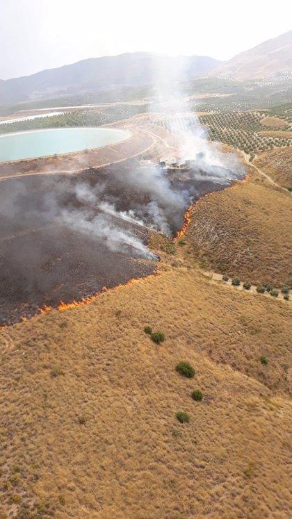 Declarado un incendio forestal en Jódar (Jaén)