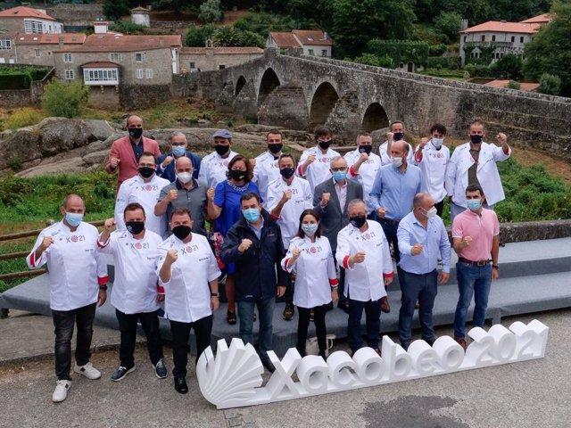 Cocineros participantes en la iniciativa Estrellas Solidarias en el Camino