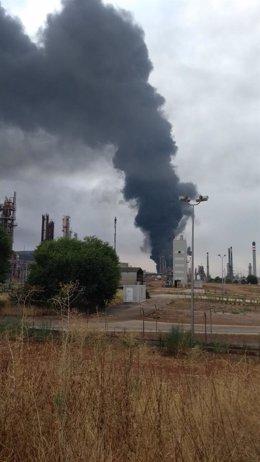 Incendio en Repsol Puertollano