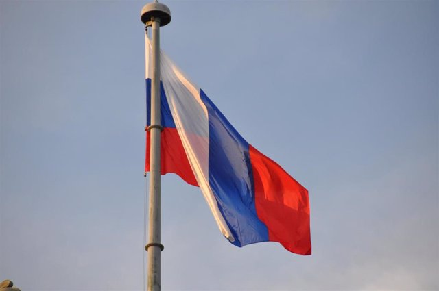 Bandera de Rusia en una imagen de archivo.