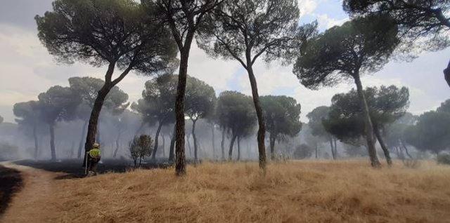 Incendio en Simancas.