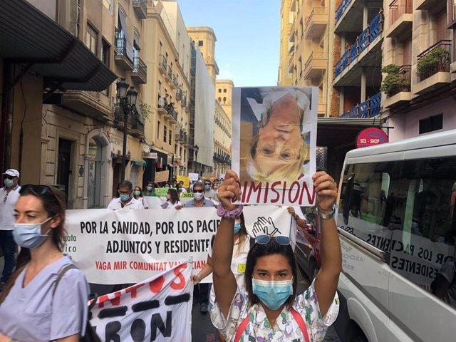 Los MIR protestan en Alicante