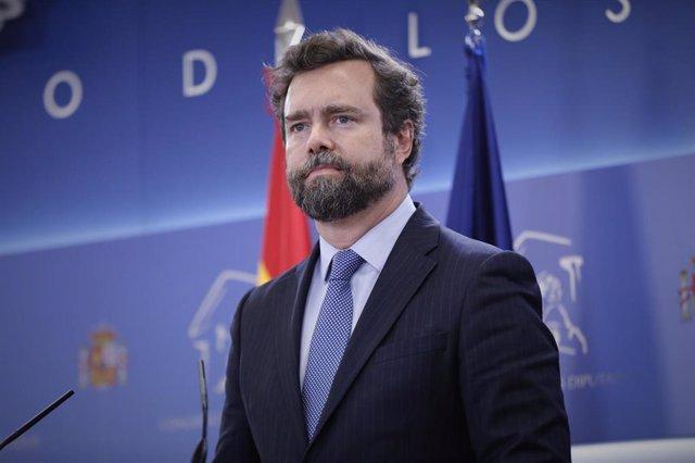 El portavoz parlamentario de Vox, Iván Espinosa de los Monteros.
