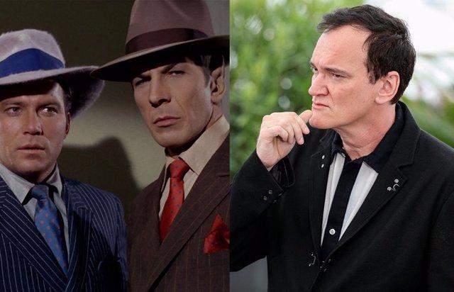 Tarantino en el Festival de Cannes y Spock y  Kirk  en un episodio de la serie original de Star Trek