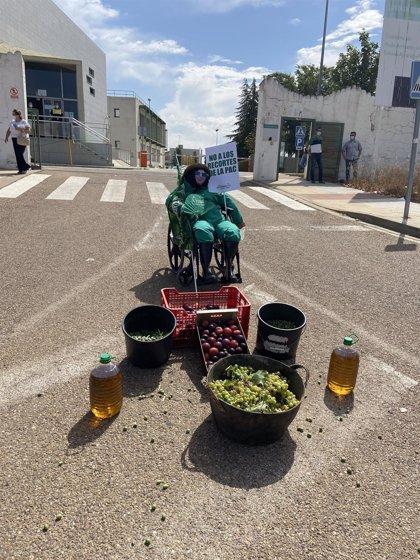 """Agricultores y ganaderos extremeños se concentran en Mérida contra los recortes de la PAC y para exigir """"precios justos"""""""