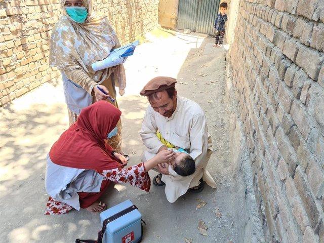 Vacunación contra la polio en Afganistán