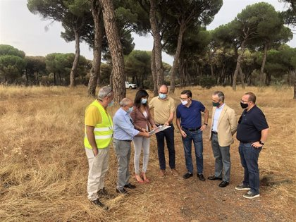 El vicepresidente de la Diputación de Valladolid visita la zona del incendio en Simancas que ha arrasado 30 hectáreas