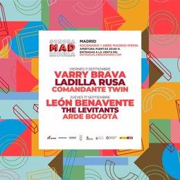 El cartel del Sonoramad Ribera, aplazado hasta septiembre