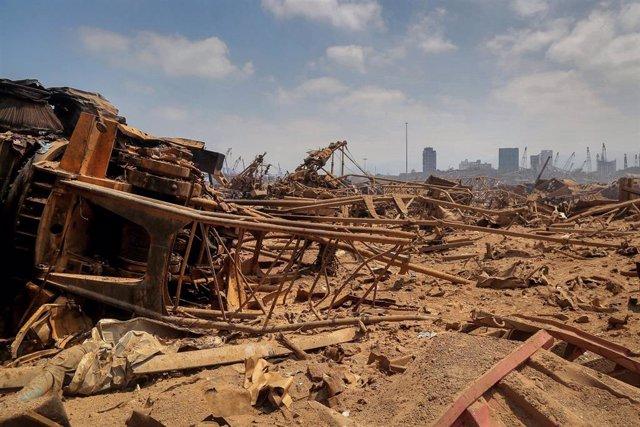 Destrucción del puerto de Beirut
