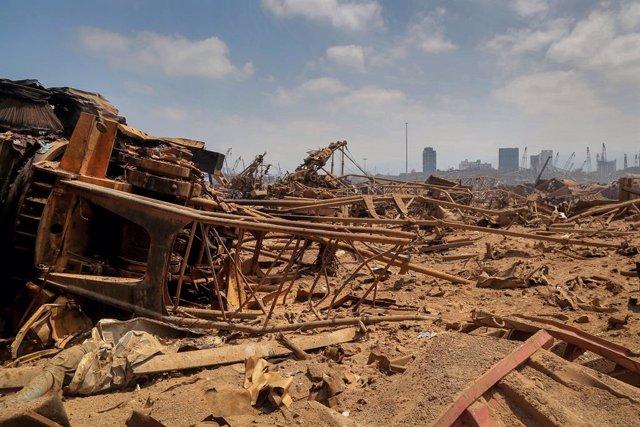 Líbano.- Beirut arrastra las consecuencias sanitarias y humanitarias de las expl