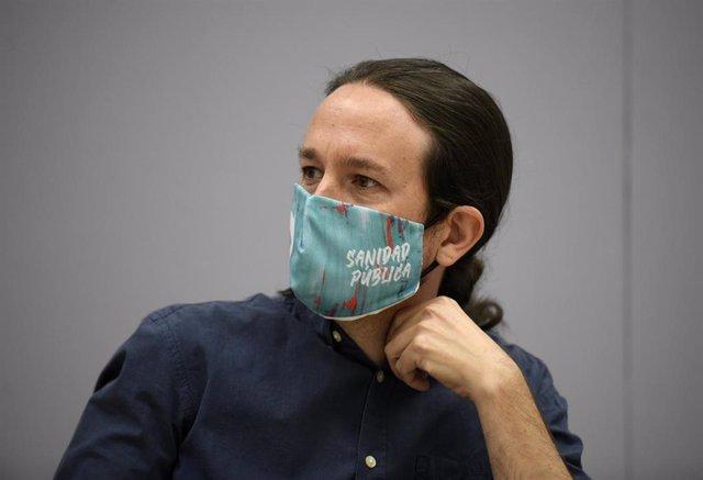 El vicepresidente segundo del Gobierno y líder de Podemos, Pablo Iglesias