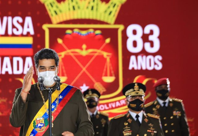 Nicolás Maduro en un acto de la Guardia Bolivariana