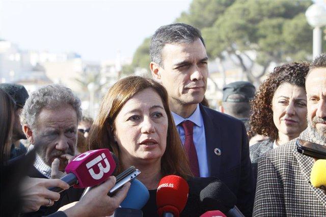 Pedro Sánchez se reunirá con Armengol después del despacho con el Rey en Mariven