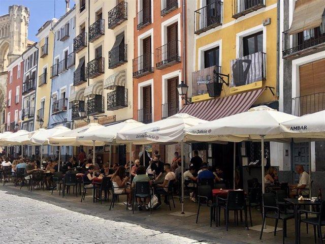 Terrazas de bares en Cuenca.