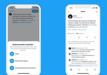 Portaltic.-Twitter ya permite a todo el mundo elegir quién puede responder a una conversación