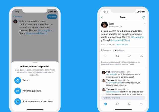 Twitter ya permite a todo el mundo elegir quién puede responder a una conversaci