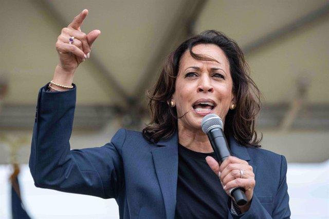 La senadora demòcrata Kamala Harris en un acte a EUA
