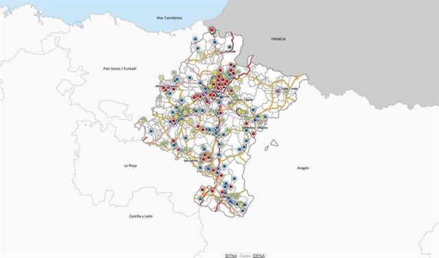 Mapa de Fosas de Navarra