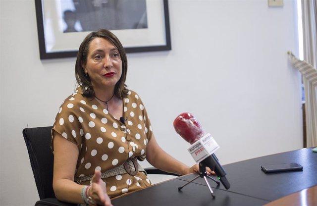 Loles López, durante la entrevista