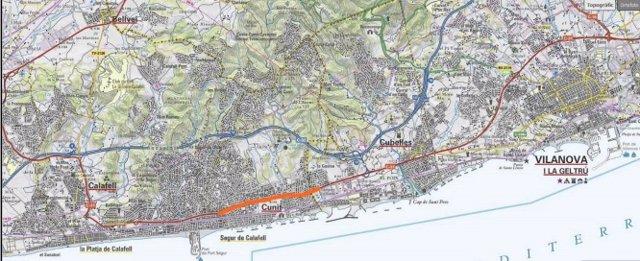 Millores en la C-31 al seu pas per Cunit (Tarragona).