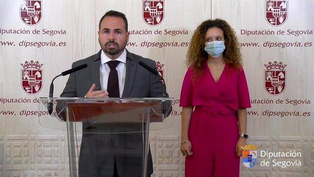 Los diputados provinciales de ciudadanos, Ángel Jiménez y Noemí Otero.