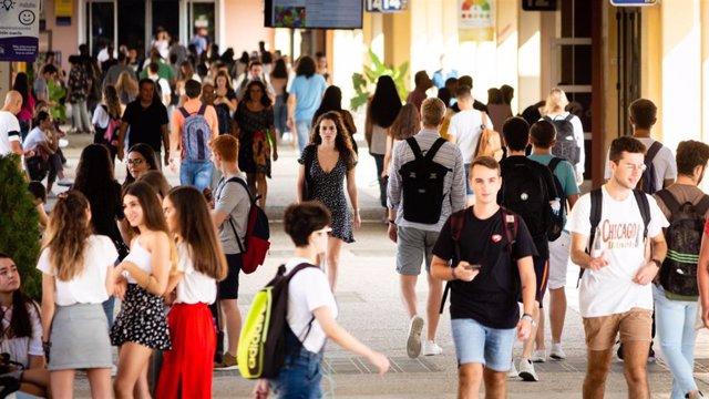 Estudiantes en la Universidad Pablo de Olavide