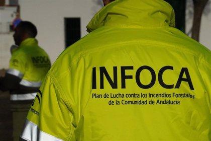 Ocho medios aéreos trabajan en la estabilización del fuego forestal de Bubión (Granada)
