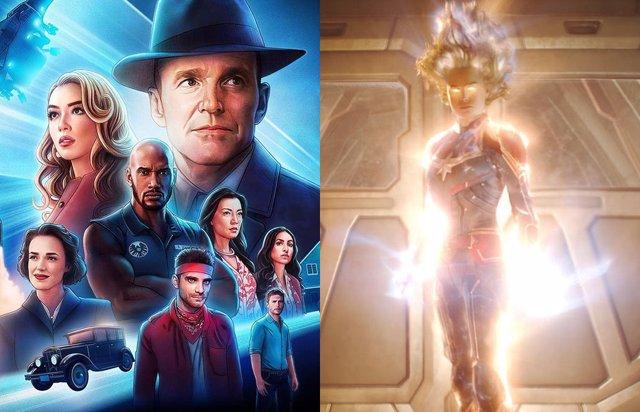 Agentes de SHIELD y Capitana Marvel