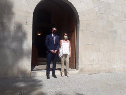 Sánchez llega al Consolat para reunirse con Armengol y analizar la situación de Baleares