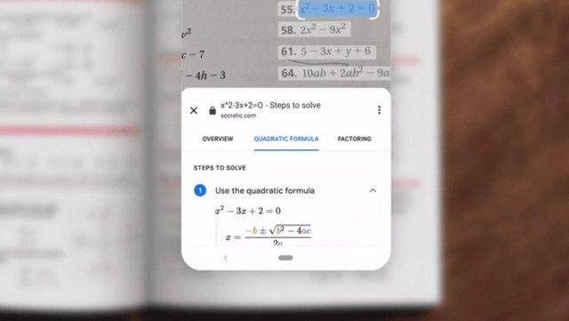 Google Lens para resolver ecuaciones.