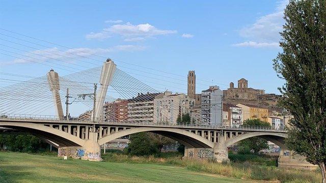 Lleida vista des del barri de Cappont.
