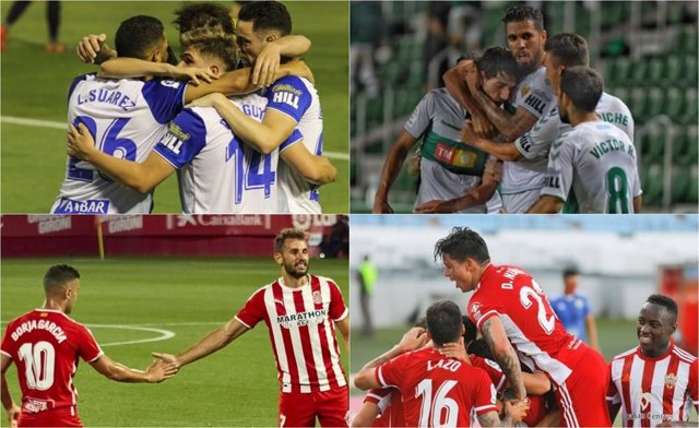 Fútbol/Segunda.- (Previa) Zaragoza, Almería, Girona y Elche inician su camino ha