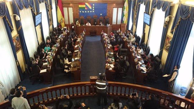 Bolivia.- El Senado de Bolivia aprueba la ley que fija hasta el 18 de octubre la
