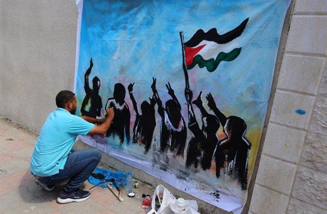 Mural a la Franja de Gaza