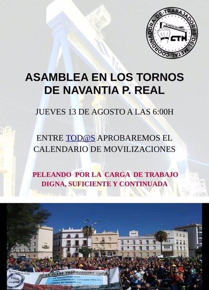 """Trabajadores de la industria auxiliar del metal de Cádiz cortan el puente Carranza y piden """"carga de trabajo digna"""""""