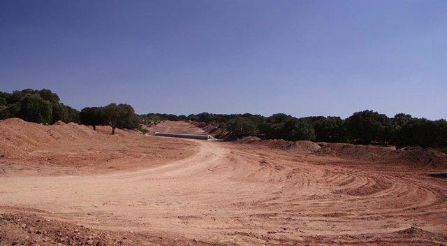 Apertura de pista para la mina de Retortillo (Salamanca). Mina uranio. Declaración de Impacto Ambiental