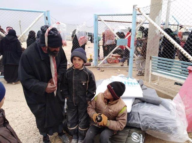 Campo de desplazados de Al Hol, en Siria