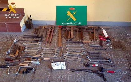Detenido por sustraer herramientas de una vivienda que fueron localizadas a la venta