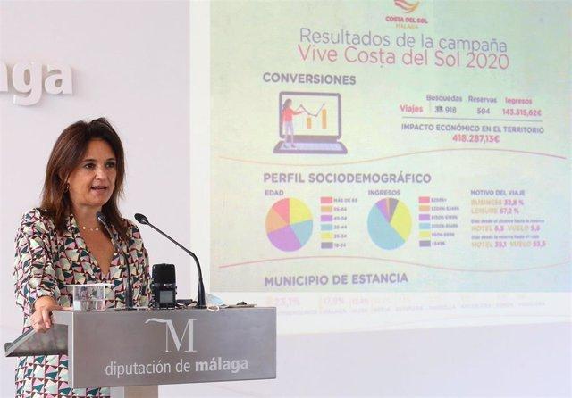 La vicepresidenta segunda de la Diputación y consejera delegada de Turismo Costa del Sol, Margarita del Cid