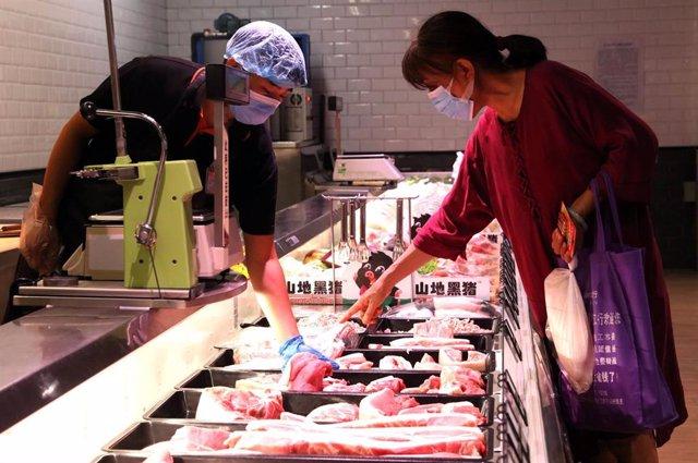 Supermercado en la ciudad china de Handan