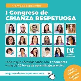 Primera Edición Online del Congreso Internacional de Crianza Respetuosa, del 4 al 6 de septiembre
