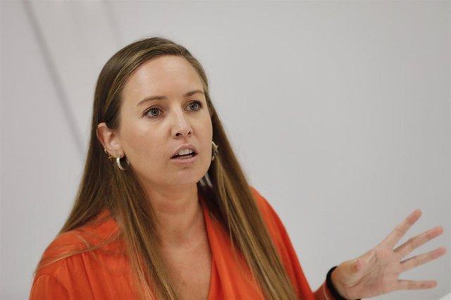 La portavoz de la Ejecutiva nacional de Ciudadanos, Melisa Rodríguez, durante una entrevista con Europa Press.