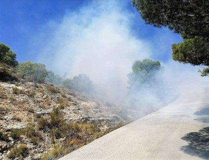 Efectivos del Plan Infomur dan por controlado el incendio forestal declarado en la Sierra del Baño, en Fortuna