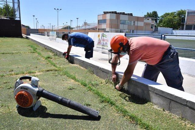 Desempleados tomareños contratados por el Ayuntamiento