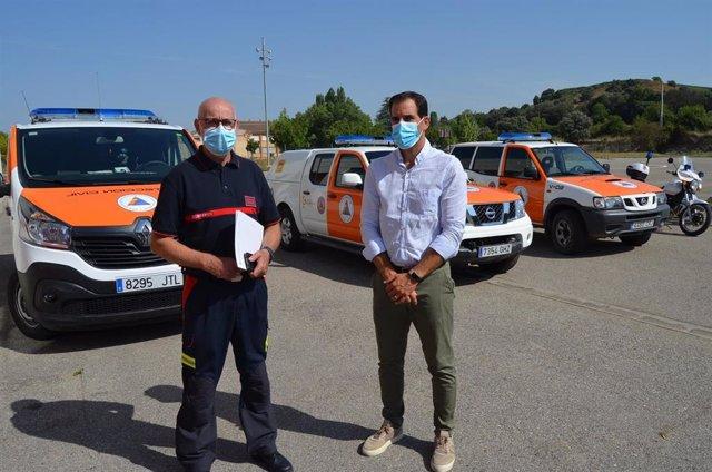 La Comarca del Somontano de Barbastro adquiere un furgón para el transporte del personal de la Agrupación de Protección Civil.