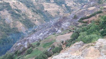 El Infoca sigue trabajando con 70 bomberos para el control del fuego de Bubión (Granada), ya estabilizado