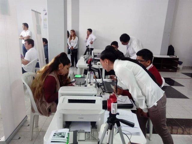 Imagen de archivo del empadronamiento para las elecciones en Bolivia